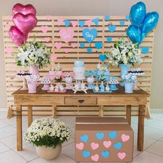 Gender Reveal Party Games, Gender Reveal Party Decorations, Gender Party, Baby Shower Gender Reveal, Reveal Parties, Fiesta Baby Shower, Baby Shower Parties, Baby Boy Shower, Shower Bebe