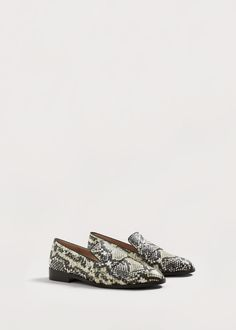 Snake design loafers - Shoes Plus sizes | Violeta by MANGO Greece