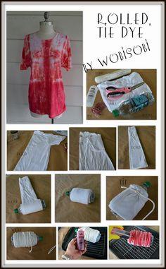 WobiSobi: Rolled, Tie Dye Tee Shirt: DIY