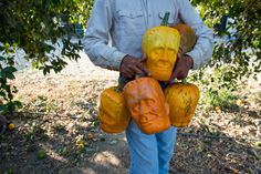 Farmer Grows Pumpkins in Frankenstein Face-Shaped Molds — GeekTyrant