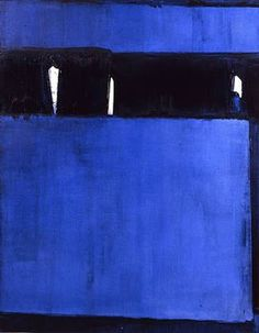 Pierre Soulages (French b. [Art Informel and Tachisme] Untitled, I LOVE the blue/black ! Action Painting, Painting & Drawing, Tachisme, Abstract Expressionism, Abstract Art, Art Bleu, Modern Art, Contemporary Art, Art Informel