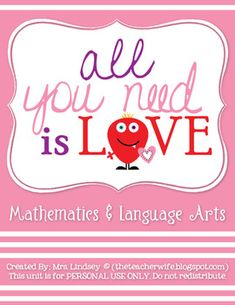 *TOP 10 BESTSELLER!*This 67 Page Unit Includes:- 3 Writing Activities: Daily Love Notes (compliments), Valentine Story Prompt with Pictures, ...