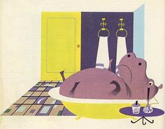 7 IsidoreL'Hippopotame Elisabeth Brozowska 1969 illustrations