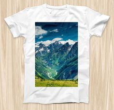 The Scenic Mountaintops ink-Fuzed Graphic Fashion by TheSkinDudes