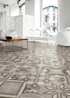 Mix van 21 verschillende patchwork tegels 30x30. In onze showroom hebben we een voorbeeld vloer liggen. Tegelhuys