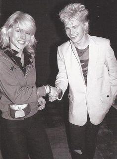Debbie Harry and Billy Idol