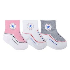Converse Kids Toddler Socks Pink - 3 Pack