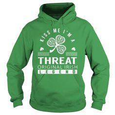 Kiss Me THREAT Last Name, Surname T-Shirt
