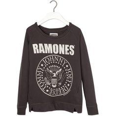 Pull & Bear The Ramones Sweatshirt ($35) ❤ liked on Polyvore