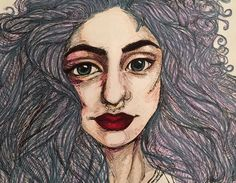 The girl with willowy hair- Grace Hall  color pencil