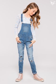 It doesn't get more now than a pair of denim overalls!