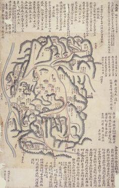 Daegu and North Gyeongsang Province. 해동지도(고대4709-41)_대구부. 서울대학교 규장각 지리지 종합정보