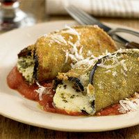 Eggplant roll-ups --Super easy and yummy *thanks rachael ray*