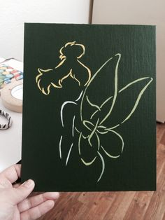 Tinkerbell painting I made on an 9x11 canvas! But it now at  https://www.etsy.com/shop/OutlandishDream?ref=search_shop_redirect