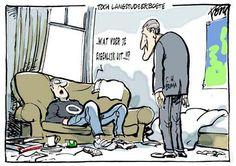 Langstudeerboete cartoon