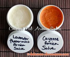 Pain Relieving Coconut Oil Arnica Salve Recipe