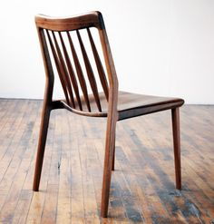 Jason Lewis Furniture Dining Chair - Jason Lewis Furniture is hand built, one piece at a time from his Chicago Illinois wood shop. Carefully selected hardwoods and time tested joinery techniques are used to create modern furniture of heirloom quality. Lewis Furniture, Wooden Furniture, Home Furniture, Furniture Design, Custom Furniture, Antique Furniture, Muebles Art Deco, Traditional Chairs, Traditional Bow
