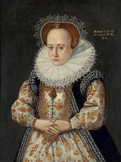1598 jeune femme à la coiffe de dentelle by ? (auctioned by Tajan) | Grand Ladies | gogm
