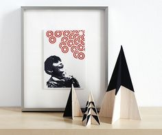 Make these timple DIY modern wooden Christmas trees!