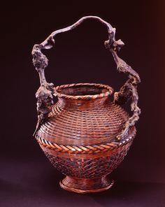 Flower basket  Japan  19th-20th century  Bamboo, tree root, rattan