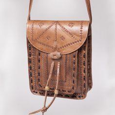 Crossbody Leather Messenger Bag (Morocco) | Overstock.com