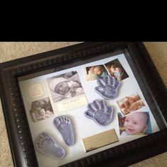 Memory/shadow box for baby boy...