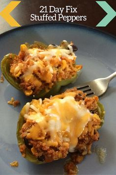 21 Day Fix Stuffed Peppers - Diann LaFrance - Food and Drink - Healthy Recipes 21 Day Fix Diet, 21 Day Fix Meal Plan, 21 Day Fix Challenge, 21 Day Fix Recipies, Beachbody 21 Day Fix, Recipe 21, Cooking Recipes, Healthy Recipes, Healthy Foods