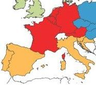 This is a picture of where the Spanish language originated from, in the orange and red. The history of the Spanish language originated in the south west region of Europe also known as the Iberian Peninsula. It originated sometime before the end of the 6th century.