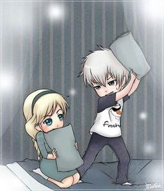 Little elsa and jack frost