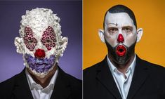 Face off: extreme clown portraits – in pictures | Art and design | The Guardian Arte Peculiar, Face Off, The Guardian, Joker, Artist, Portraits, Fictional Characters, Pictures, Design