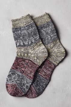 Red and LIme Heathered Crew Socks