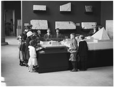 The Metropolitan Museum of Art, Wing E: Egyptian Art Galleries; View of children looking at art. Photographed on May 20, 1912. Image © The Metropolitan Museum of Art