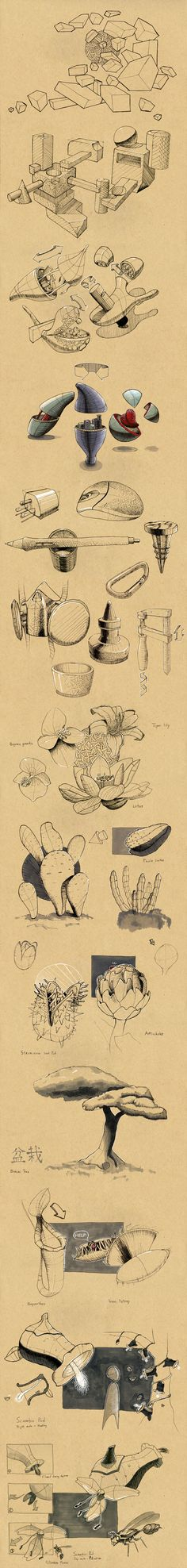Dynamic Sketches by Bryan Wong, via Behance