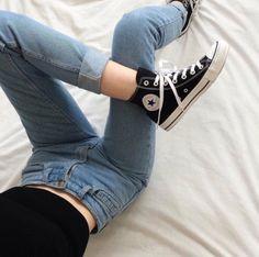 Картинка с тегом «converse, jeans, and grunge»