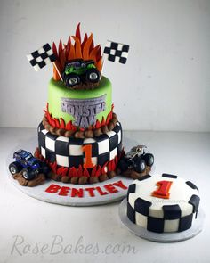 Monster Jam Cake and Smash Cake