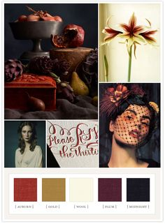 Autumnal color palette - @Rebekah Ahn Ahn Lutz, maybe with a pop of chartreuse?