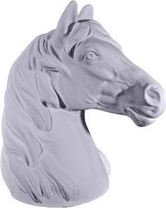 Horse Head Plaster Statue