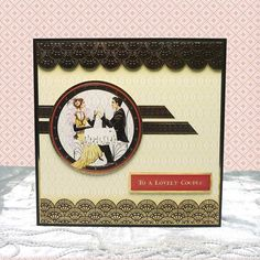 Card made using the Dressed for the Occasion Luxury Topper Set from the Deco Delights Collection