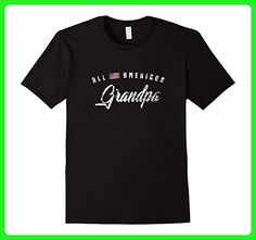 Mens All American Grandpa Shirt, Cute Flag Birthday Gift 3XL Black - Birthday shirts (*Amazon Partner-Link)