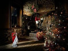 #child waiting by the #fireplace on #christmaseve for #santaclaus #Secretsanta http://www.fatherchristmasletters.co.uk/letter-from-santa.asp