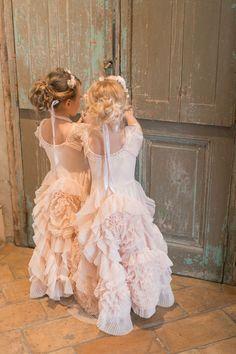 sweet ruffled flower girl dresses