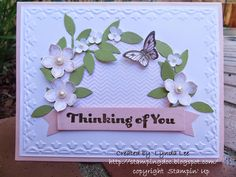 Lynda's Quiet Time: petite flowers Thinking of you