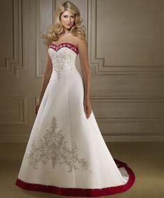 Resultado de imagem para vestido de noiva branco e vermelho