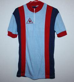 Rare Vintage Le Coq Sportif cycling jersey shirt 80's in Sports Memorabilia…