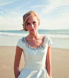 Simply Gorgeous Neckline - Modest Wedding Gown