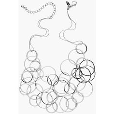 Chico's Margot Silver-Tone Bib Necklace ($49) ❤ liked on Polyvore featuring jewelry, necklaces, silver, silvertone jewelry, bib necklace, silver tone necklace, silvertone necklace and silver tone jewelry