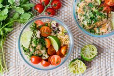 Cilantro Lime Chicken + Cauliflower Rice for Meal Prep Day! - Clean Food Crush