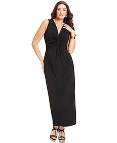 Elementz Plus Size Sleeveless Gathered Maxi Dress Plus Size Maxi Dresses, Plus Size Outfits, Dresser, Big Girl Fashion, Review Dresses, Dresses Online, Cool Outfits, My Style, Wedding Wear