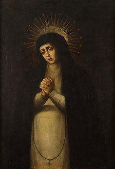 Lote 52: Virgen de la soledad. :: Alcalá Subastas