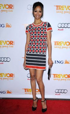 Actress and model Zoe Saldana ...love this outfit!